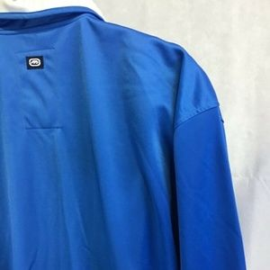 ECKO UNLTD Blue Zip up warm up jacket Large Logo's